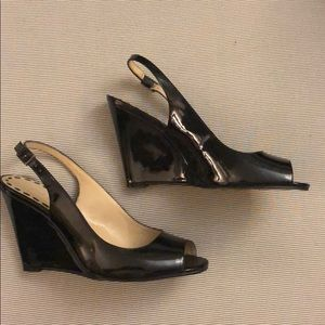 Used Nine West Patent leather wedges